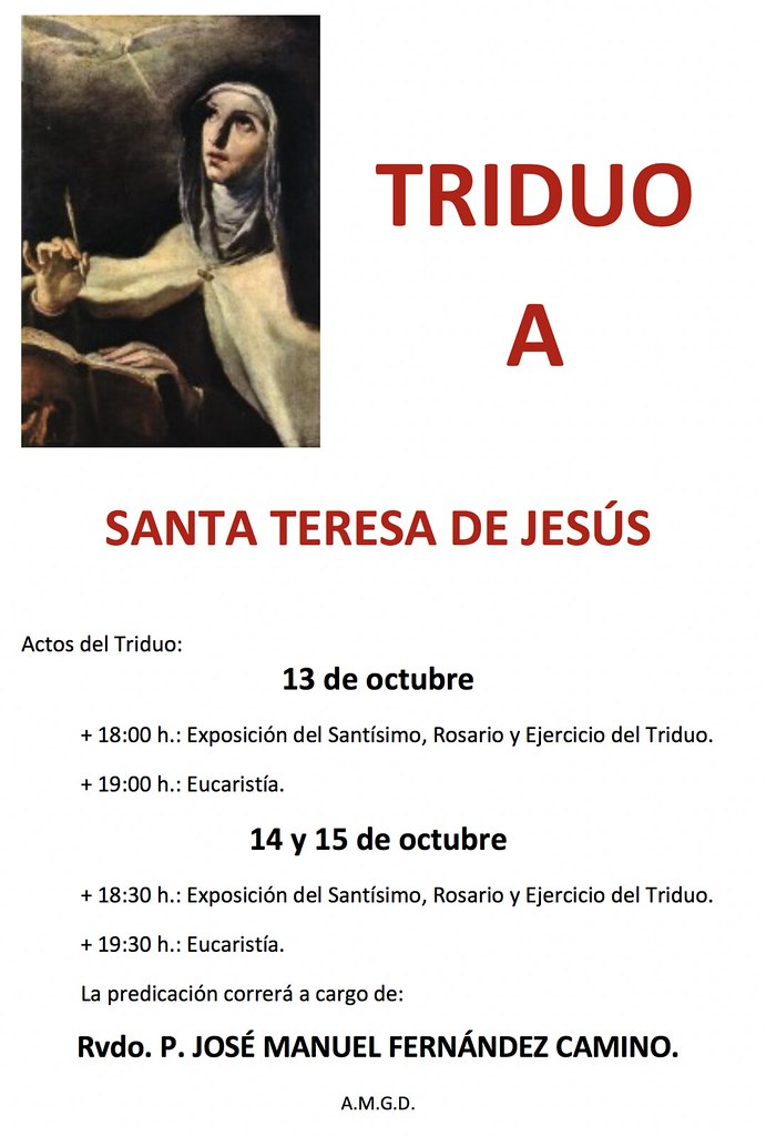 Triduo de Santa Teresa de Jesús