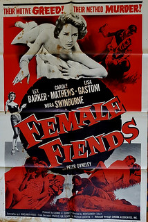 Female Fiends - USA One Sheet - Film Poster - 1958