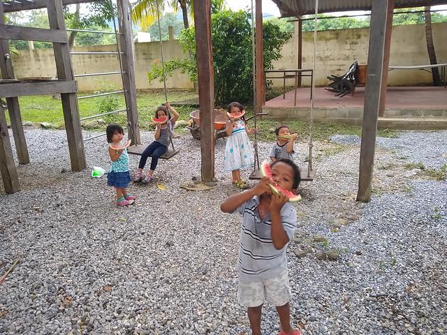 Kids at Casa Agua Azul