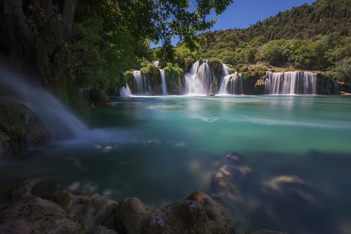water waterfall waterfalls color motion nature landscape national park krka croatia europe travel long exposure nd filter blue green