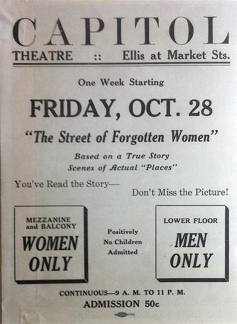 Capitol Theatre, Street of Forgotten Women program circa 1927