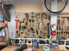 Tool wall at Tomcat bikes (1)