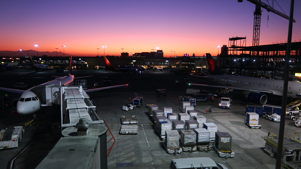 Sunrise at Los Angeles International Airport