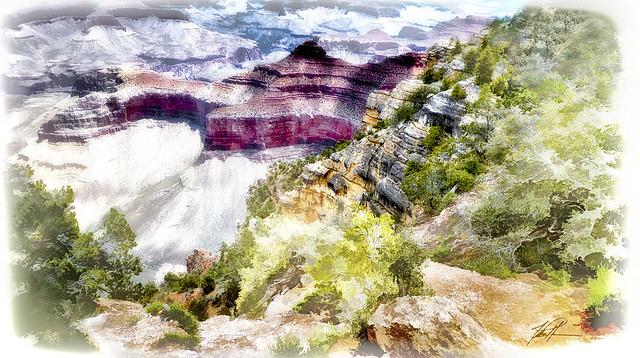 Grand Canyon, south rim drop-off redux