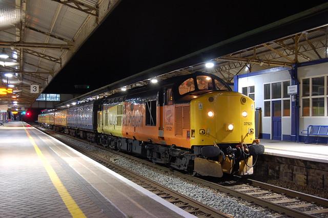 Colas Railfreight Class 37 37521, Newton Abbot 3Q50. 01/10/19