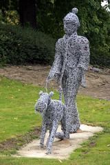 'The Dog Walker' Wire Sculpture (40/52)