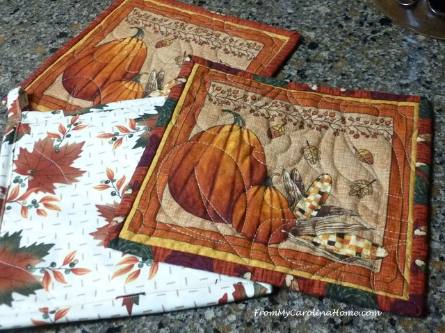 Sewing Hot Pads at FromMyCarolinaHome.com