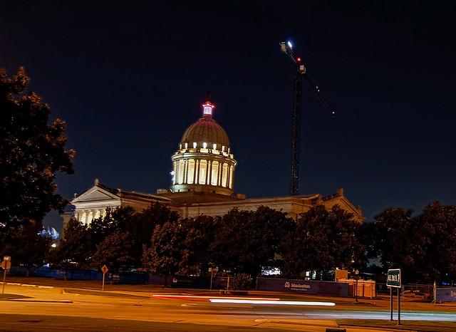 Oklahoma Capitol at night