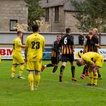 Ashley Ballam is congratulated by Captain Ross Still