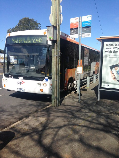 246 bus waiting at Clifton Hill Station bus stop