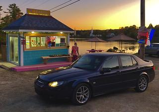 Saab at Seaside Icecream