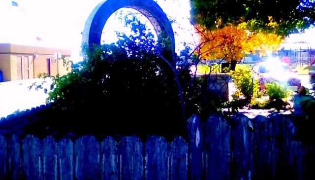 Library garden fence - HFF Menominee Michigan