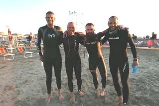 L'ironman casamassimese con altri atleti