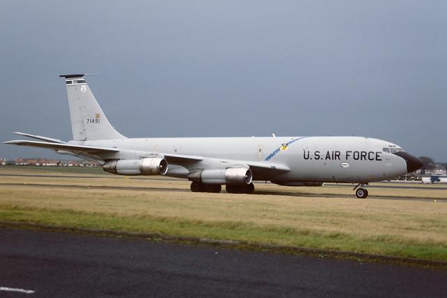 57-1491 Boeing KC135E Stratotanker EGPK 1987