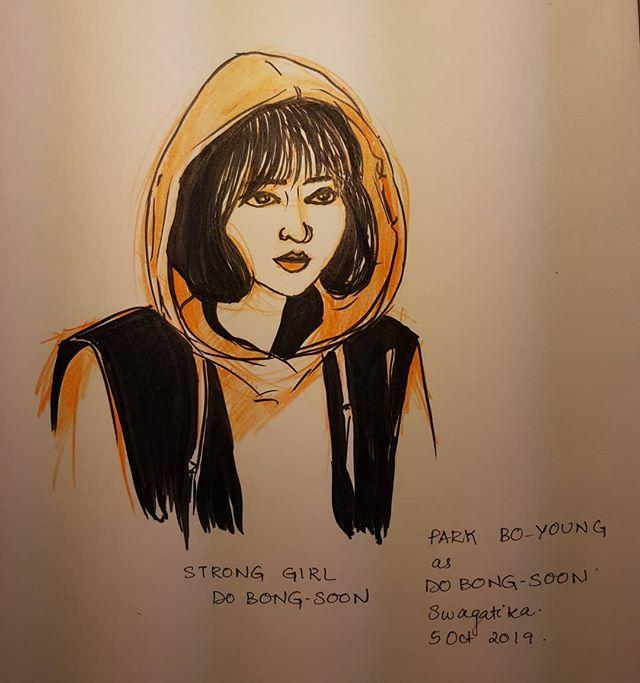#inktober #inktober2019 #inktober2019day5 . #stronggirlbongsoon #parkboyoung #koreandrama