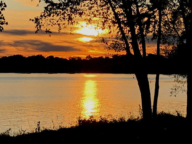 Sunset Over the Lake -