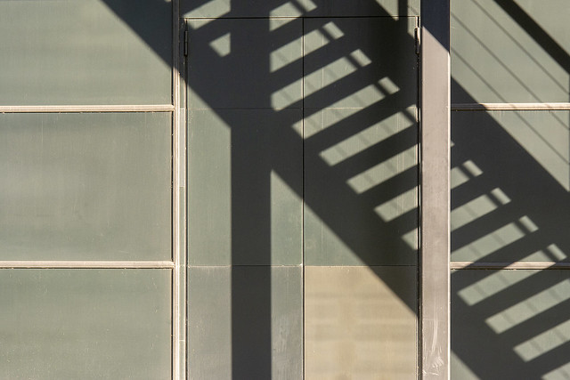 Shadowplay with a stairway