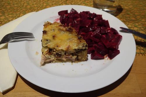 Blumenkohltarte mit Rote Bete Salat (meine 2. Portion)