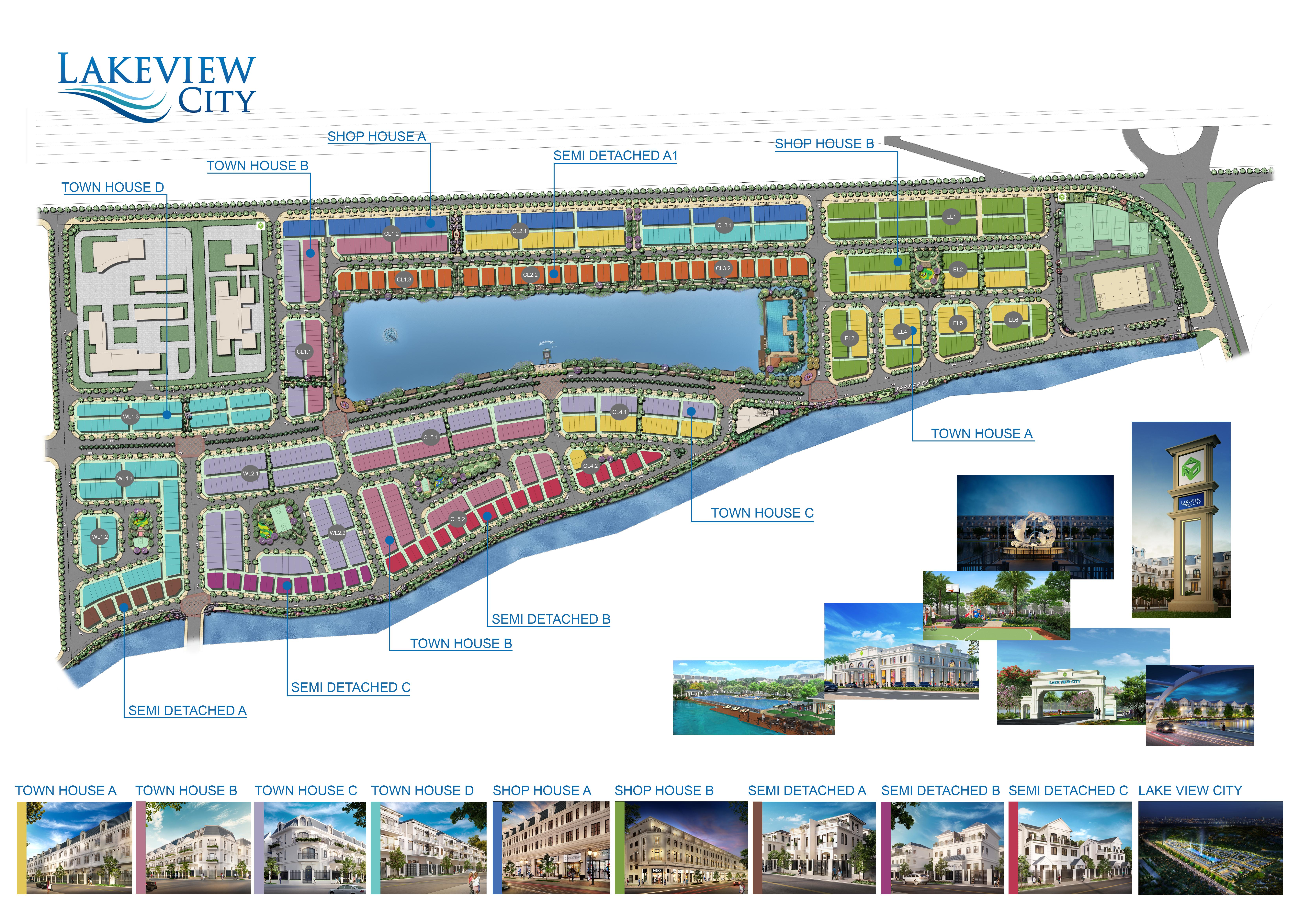 Bản đồ quy hoạch mặt bằng sử dụng đất Lakeview City