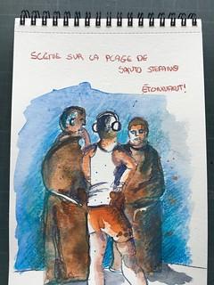 Carnet de Sicile 19, sur la plage à San Stephanos