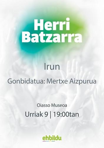 Herri Batzarra EH Bildu Mertxe Aizpuruarekin
