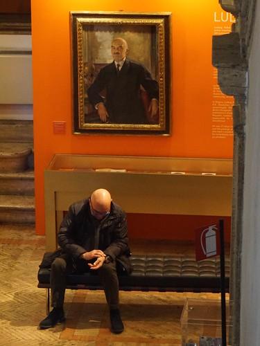 Man in gallery