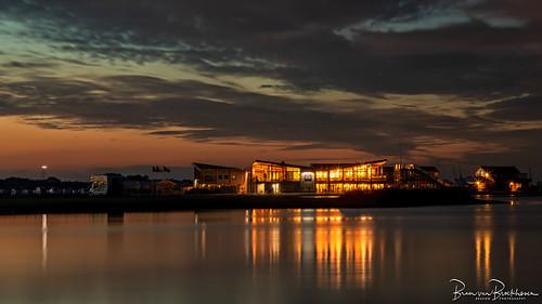 Morning twilight Brouwersdam near Port Zélande
