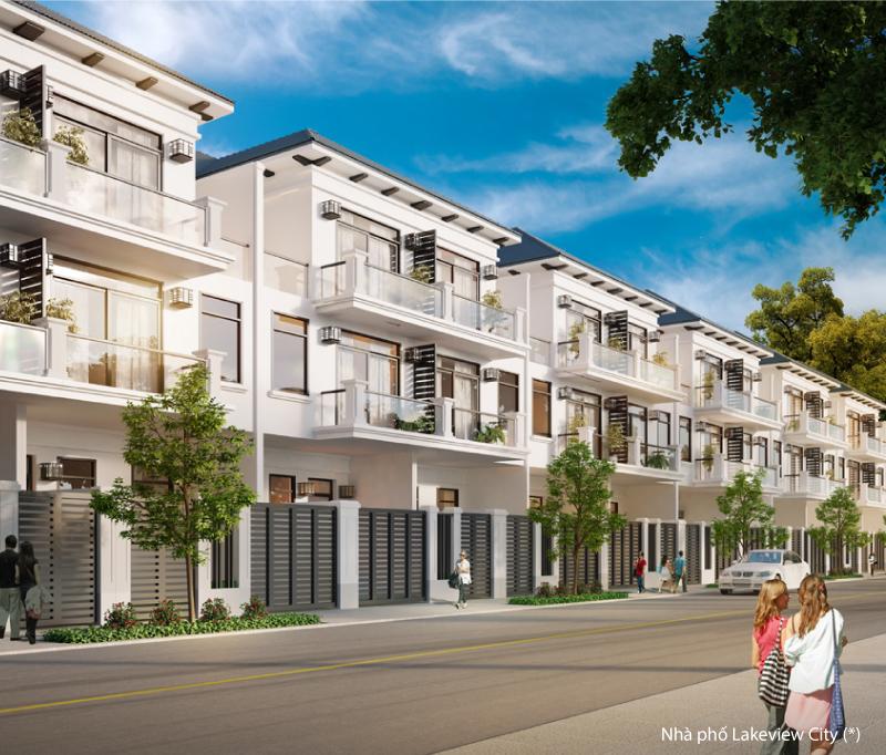 Mẫu nhà phố D dự án Lakeview City
