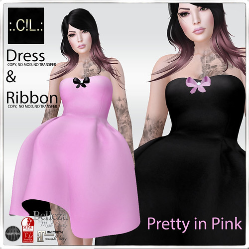 :.C!L.: Pretty in Pink Strapless Dresses -Awareness Gift-Poster