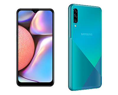 The Samsung Galaxy A10s (S$198) is available in black while the Samsung Galaxy A30s (S$328) is available in Prism Crush Black or Prism Crush Green.