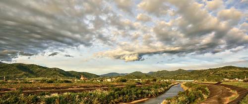 hdr hdrtist chuchen taiwan sony alpha nex6 riverside sunset walk clouds