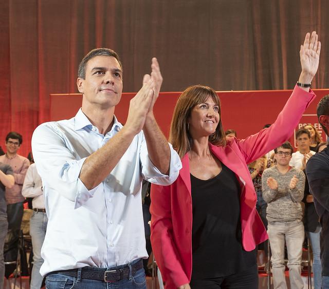 Pedro Sánchez en Barakaldo con los Socialistas Vascos