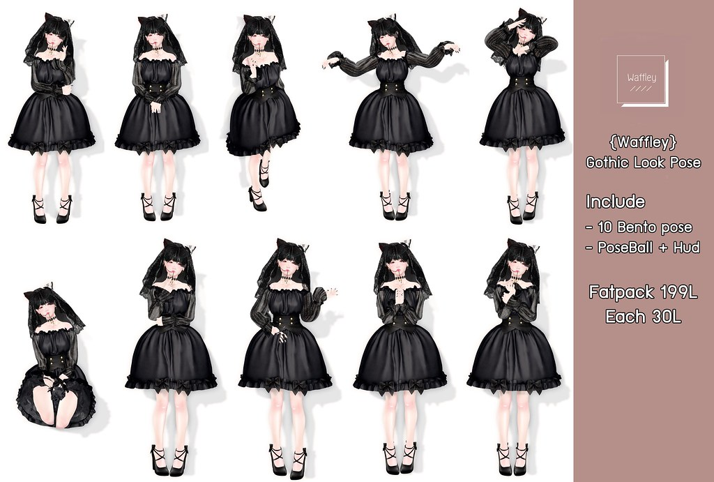 {Waffley} Gothic Look Pose.