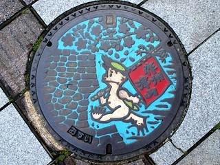 Tsuyama Okayama, manhole cover (岡山県津山市のマンホール)