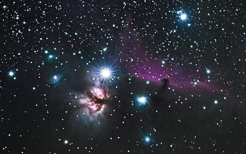 ngc2024 flamenebula horseheadnebula orion barnard33 deepsky astrophotography gsmnp ic434 nightsky