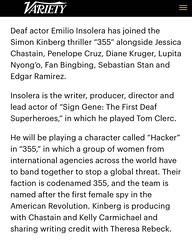 Variety | Deaf actor Emilio Insolera 355 film