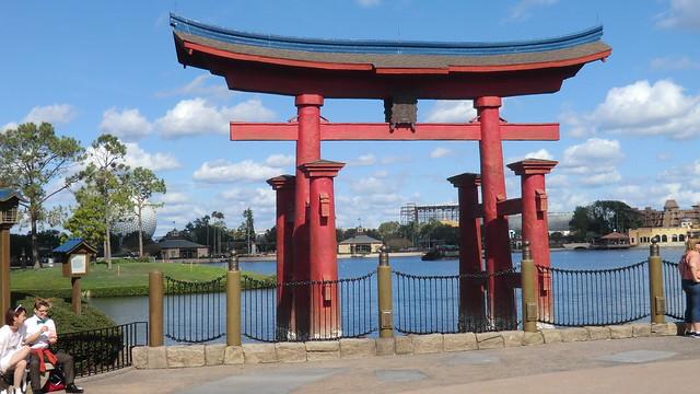 Florida - Orlando: EPCOT Center, Walt Disney World - World Showcase -> Japan --Replica of Itsukushima Shrine in front of the Japanese Pavilion