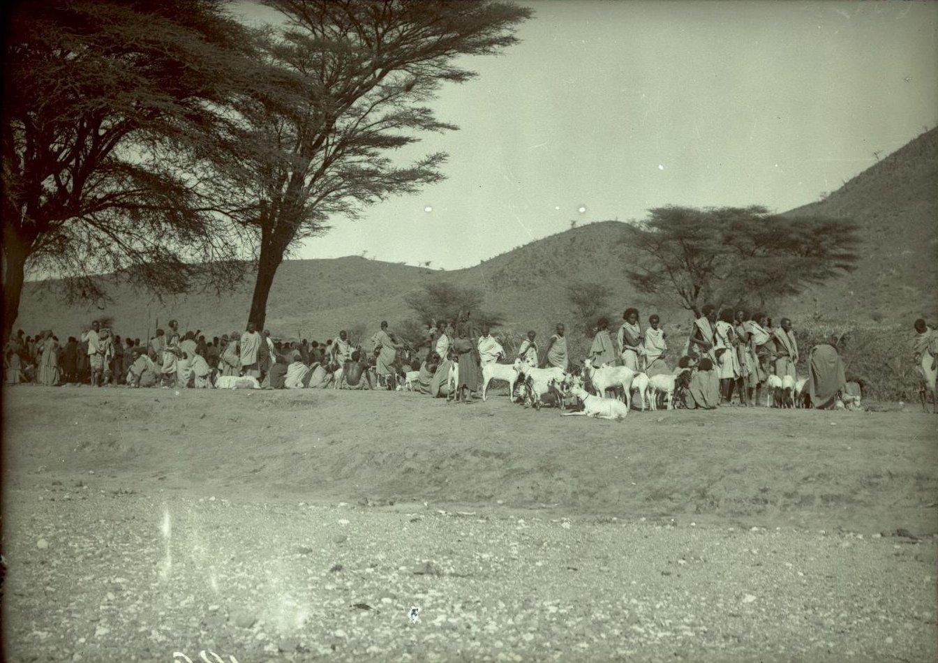 188. 1899. Абиссиния. Гильдесса. Уголок на базаре