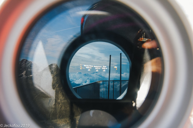 The visible and invisible from Piz Corvatsch