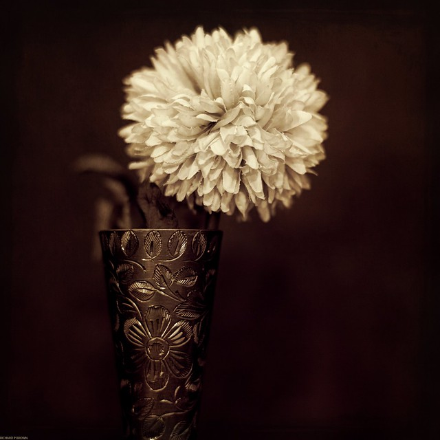 Brass goblet with Flower