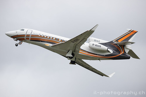 Dassault Falcon 7X, B-8205, Business Aviation Asia