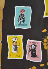 Muertos Skeletons Loteria Oaxaca Mexico Mural