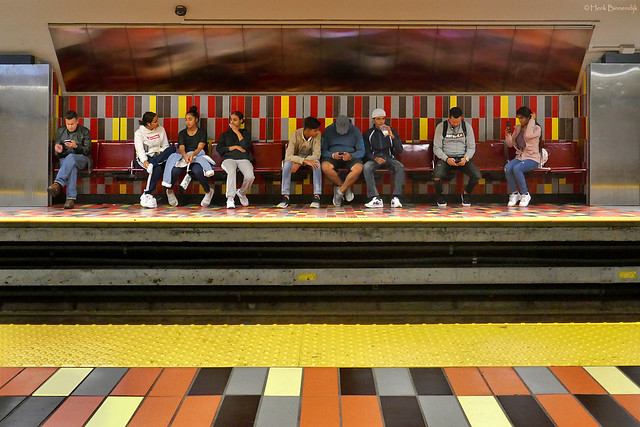 Canada: Montréal, a colourful metro station