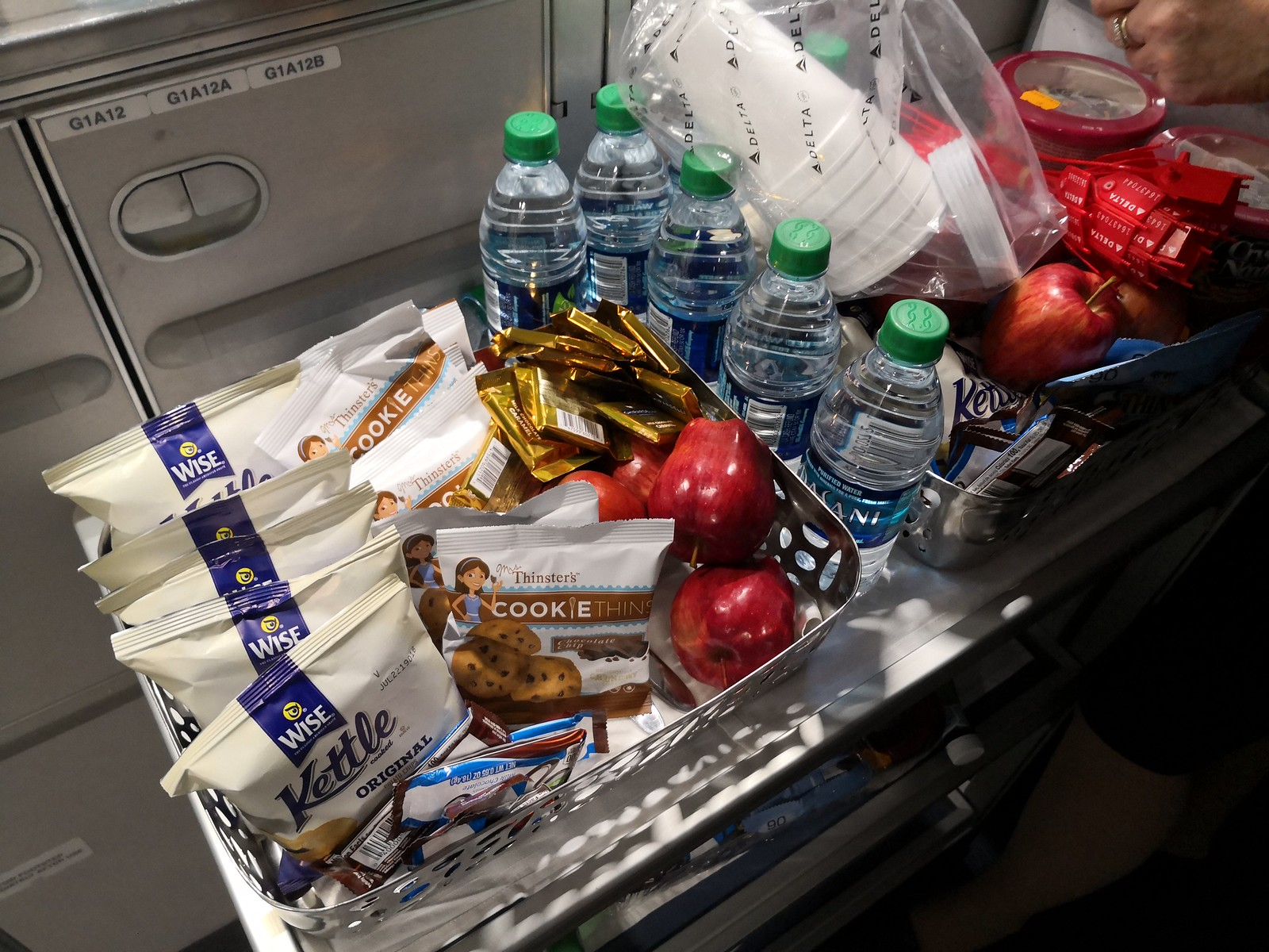 Snacks in the galley