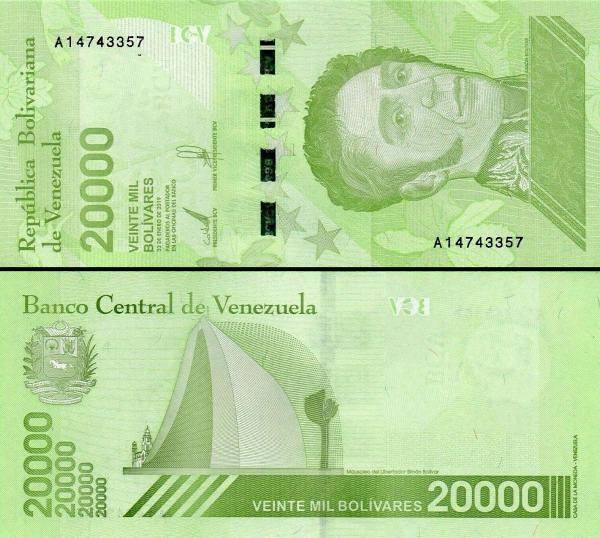 20 000 Bolívares Venezuela 2019, Pnew