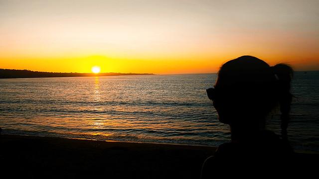 Sunset Monterey Bay State Beach / California