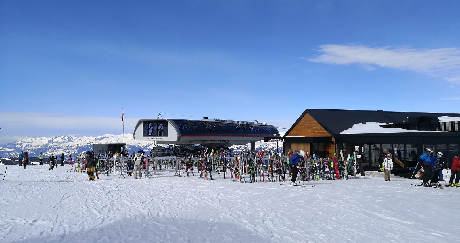 New Rendezvous lodge and Blackcomb Gondola
