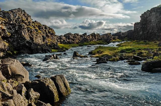 Öxará river in Thingvellir