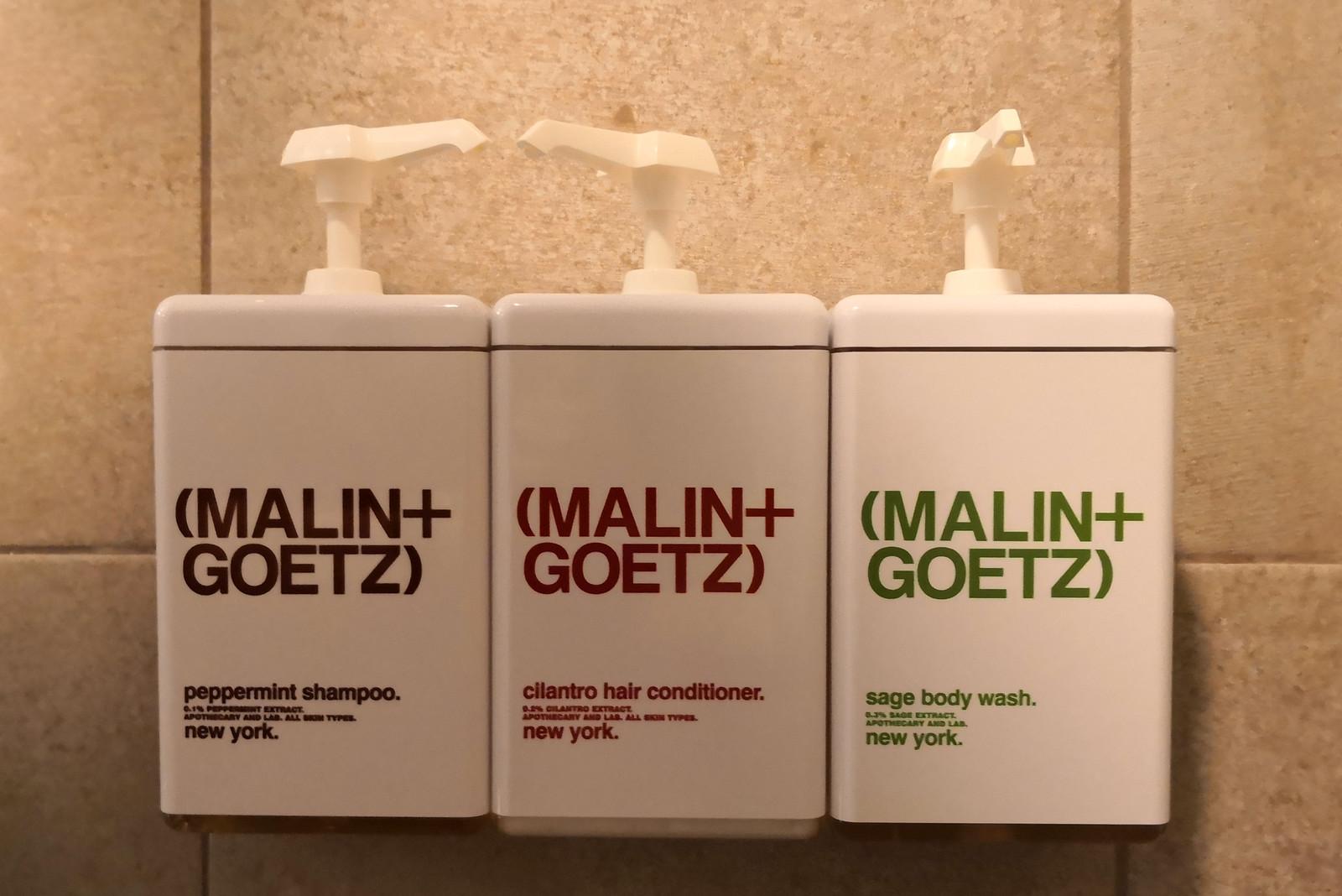 Malin + Goetz amenities