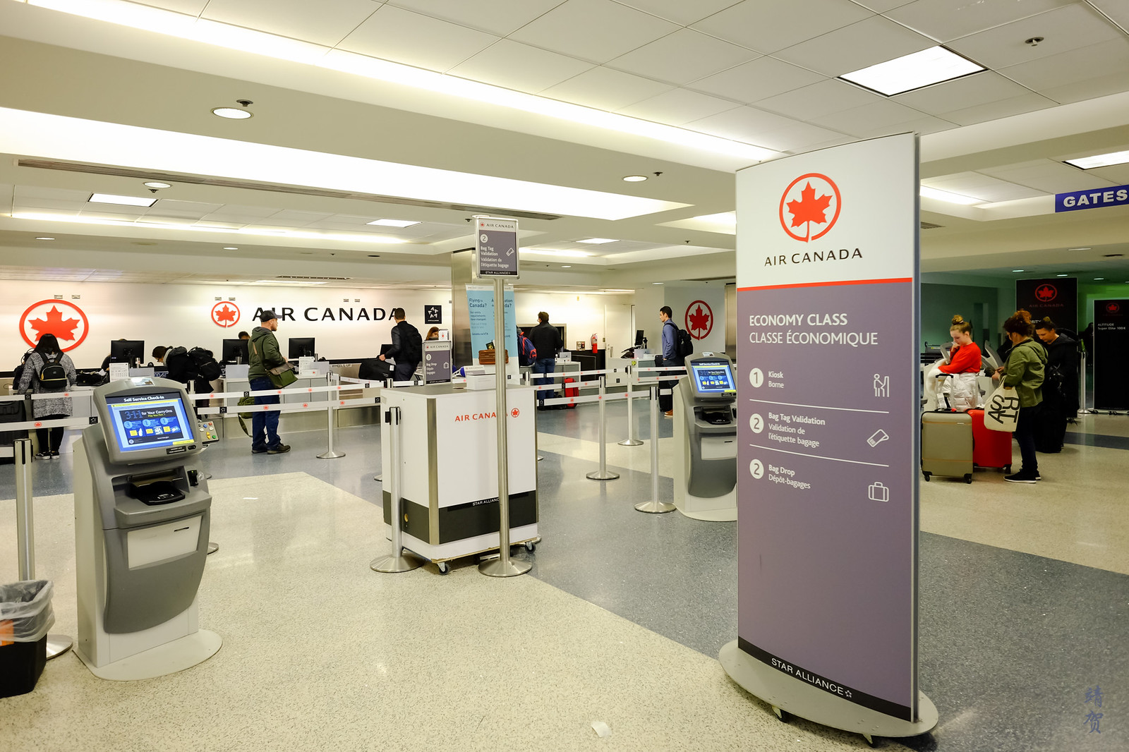 Air Canada counters